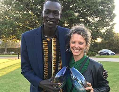 Sanaa Founder Victoria Lewis, alongside Gabriel Akon – aka DyspOra, also involved in the Sanaa platform and was awarded the Youth Award for his ongoing work in the community