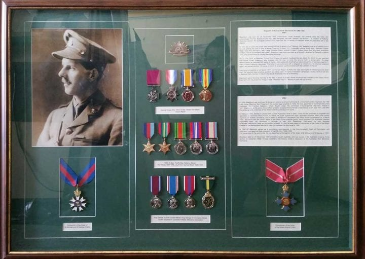 Framing military medals Adelaide Tania Buck