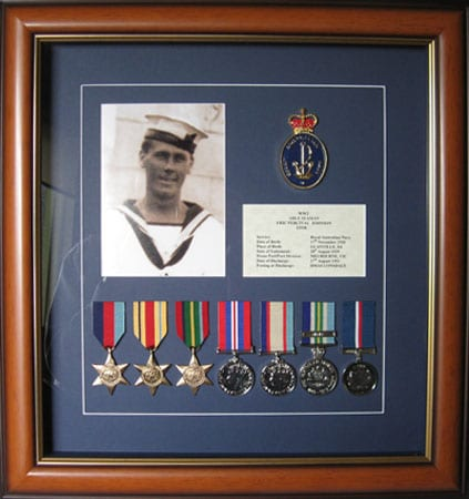 Swing Mounting medals Adelaide