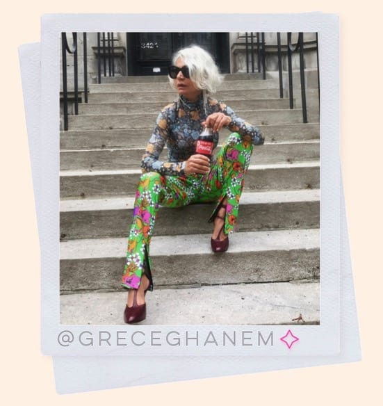 @greceghanem official  style icon over 50