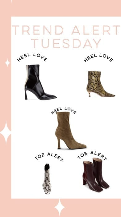 Lucy MacGill Trend Alert Tuesday: square heel and toe boots