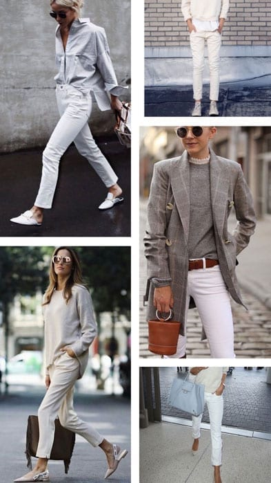 The Style Tribe Lucy MacGill winter white jean inspo