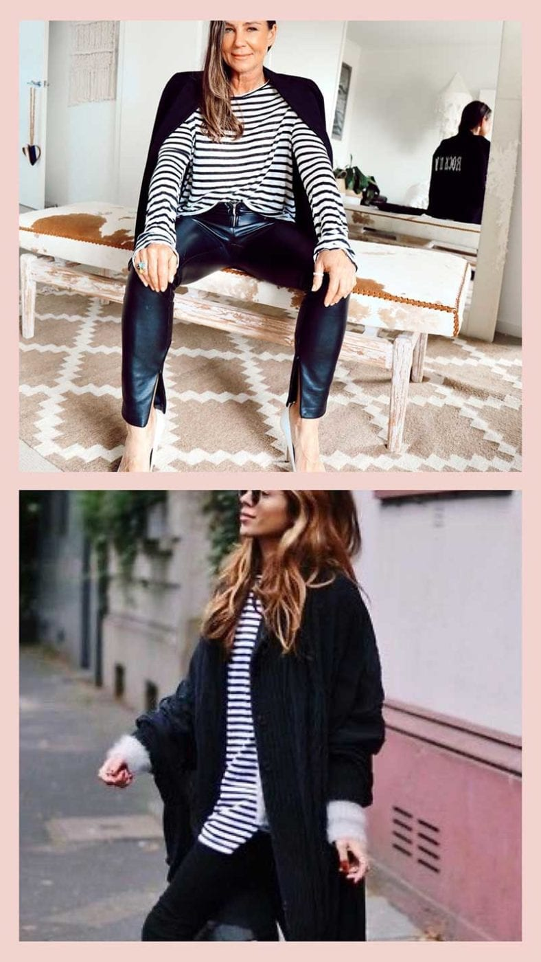French look black and white stripes, Lucy MacGill Style Tribe