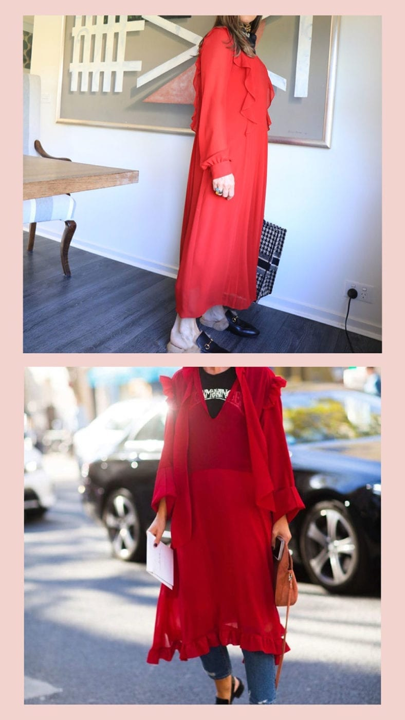 French look red dress, Lucy MacGill Style Tribe