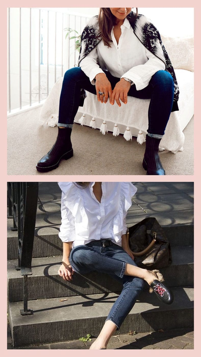 French look white shirt and jeans, Lucy MacGill Style Tribe