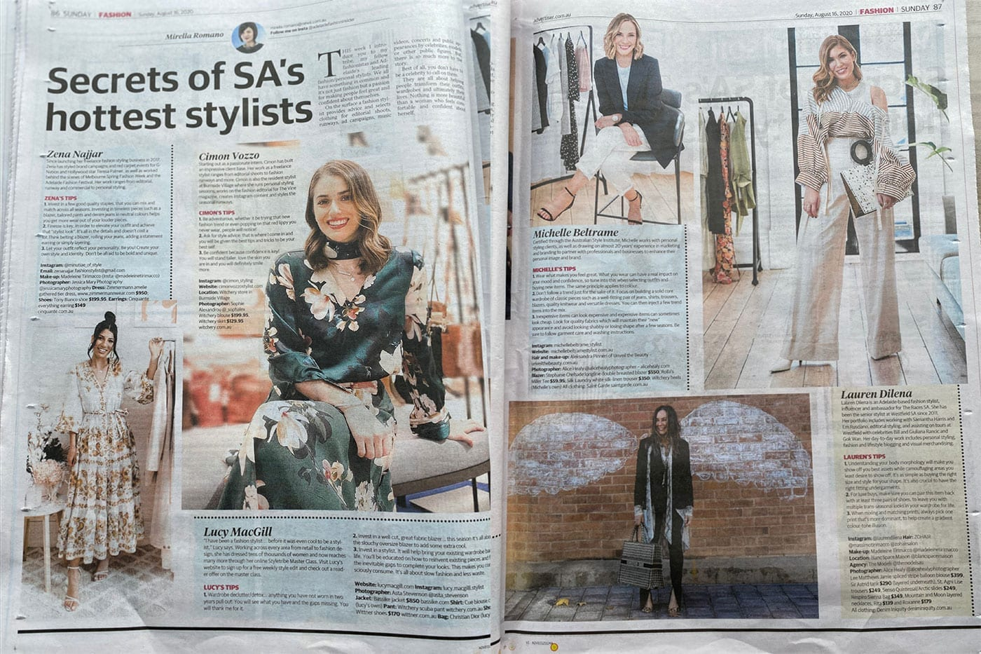 Sunday Mail Secrets of SA's Hottest Stylists