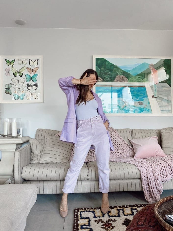 Lucy MacGill at home pastel look