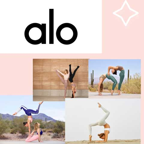 Alo Yoga workout gear Lucy MacGill loves