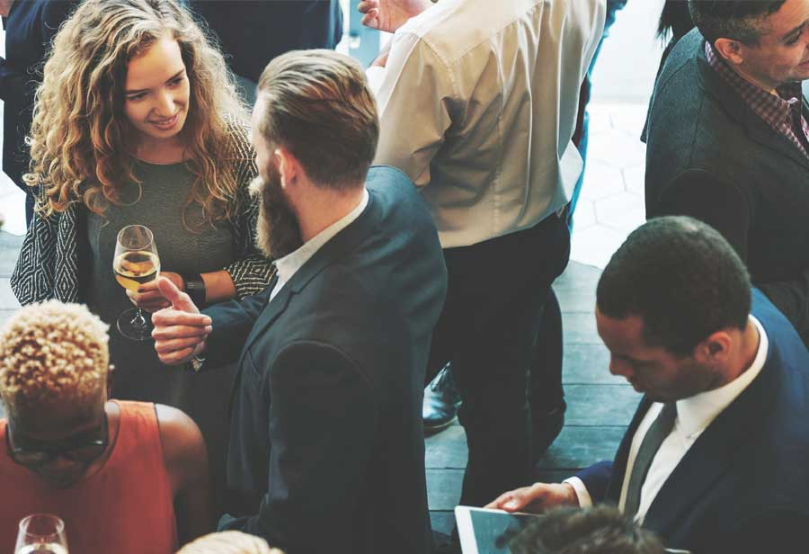 Group of business people at networking event
