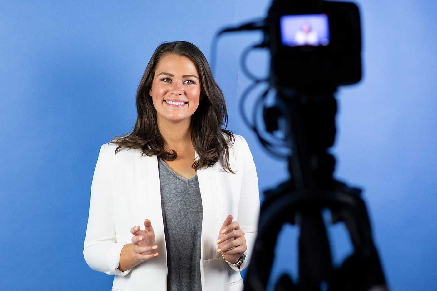 Stephanie Robertson-Renshaw TV Presenting course with Lisa McAskill