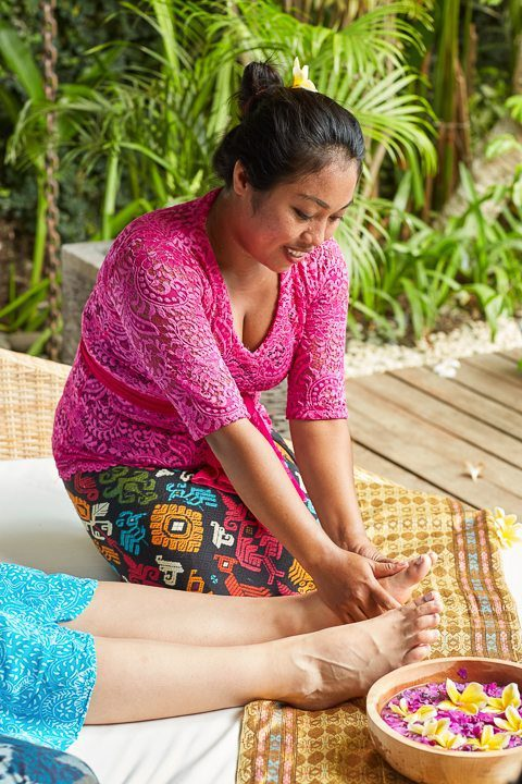Luxurious foot massage - Unlimited spa treatments include manicures and pedicures when ever you feel like following your bliss. Enjoy your treatments by our beautiful pool and relax