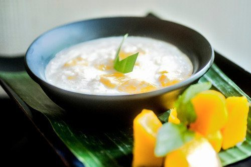 Yummy bowl of dip - at our Bali wellbeing retreat where the food is plentiful,  fresh and delicious