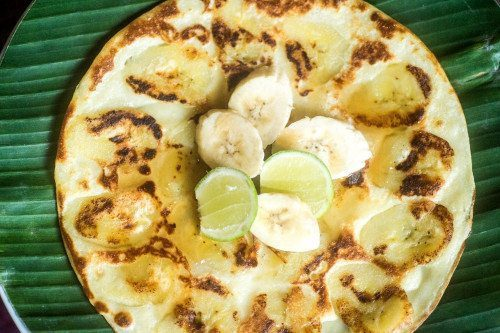 Yummy Banana Pancakes - food is unlimited at our Bliss Bali yoga and spa retreat
