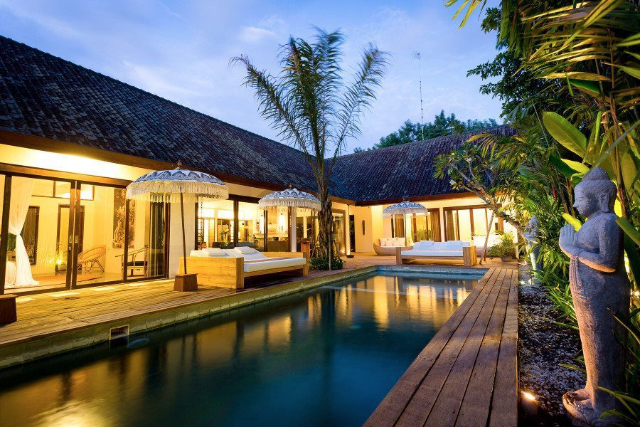 Relax at our beautiful Seminyak sanctuary retreat amongst luxurious outdoor living spaces and daybeds
