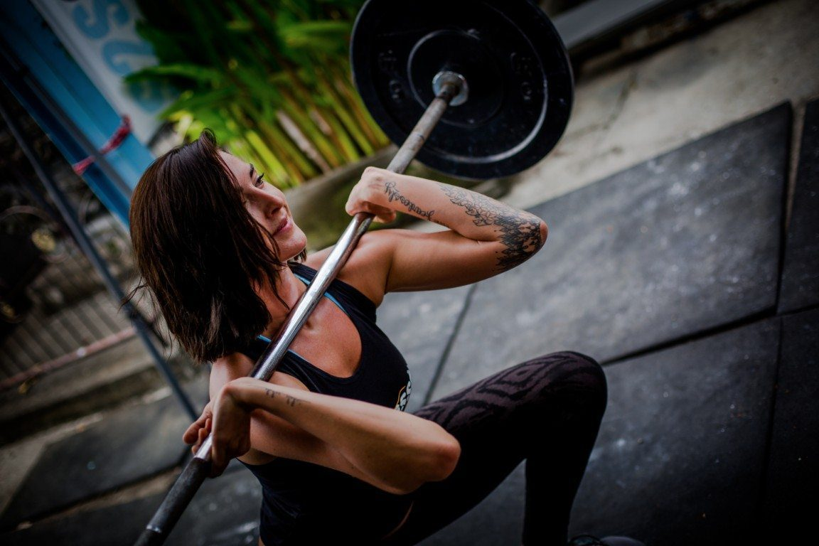 Women working out in Bali surrounds on the Crossfit Bliss Package
