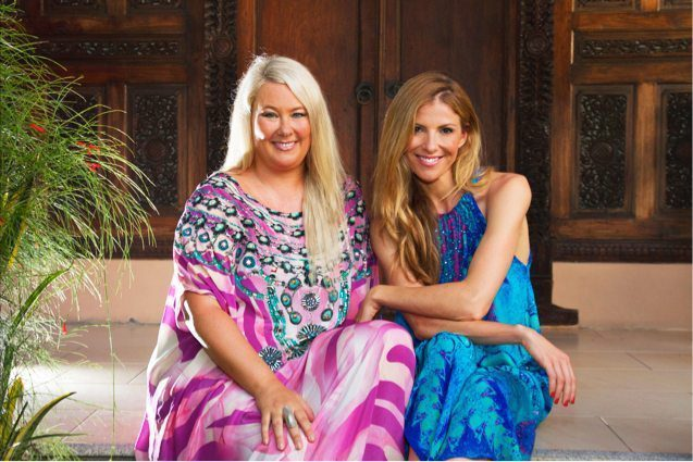 Laura Csortan with Zoë Watson - Founder of Bliss Sanctuary for Women - Health & Relaxation Retreat in Bali