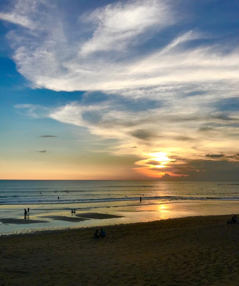 Relax watching gorgeous beach sunsets in Bali at Bliss Sanctuary for Women