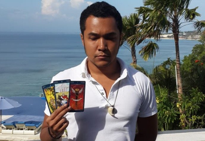 Erlangga PatriaErlangga is an amazing spiritual counselor who uses intuitive psychology, tarot and empathic spirituality and is available to visit our guests at Bliss for a 30 or 60 minute session.