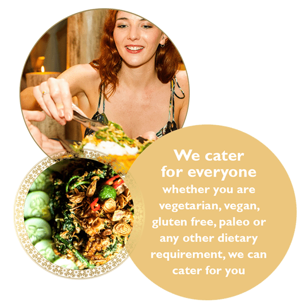 we cater for everyone whether you are veggie, vegan, paleo at our womens luxury retreats bali