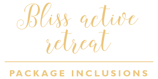 Bliss Active Package Inclusions