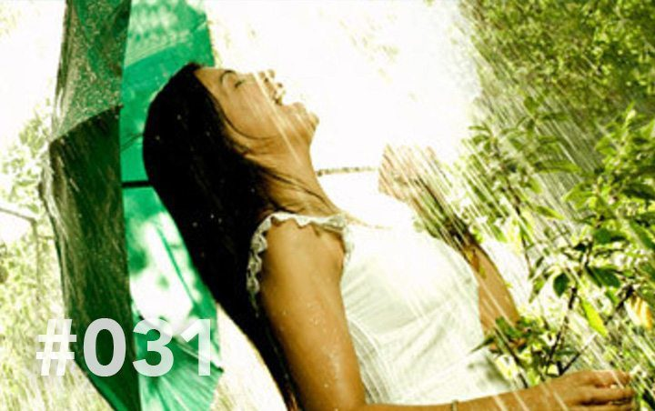 Bliss Sanctuary Bali - Blog 31- Learning to Dance in the rain. Girl laughing in rain
