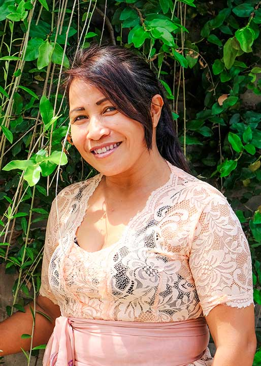 Our people: Alit is head of the kitchen in our beautiful Seminyak Womens Retreat