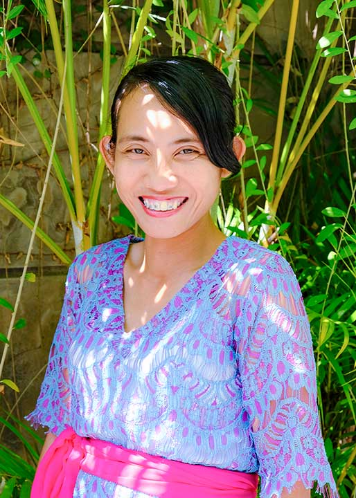 Our people - Ani is our beautiful Hostess who will welcome you with open arms at our Seminyak Womens Retreat