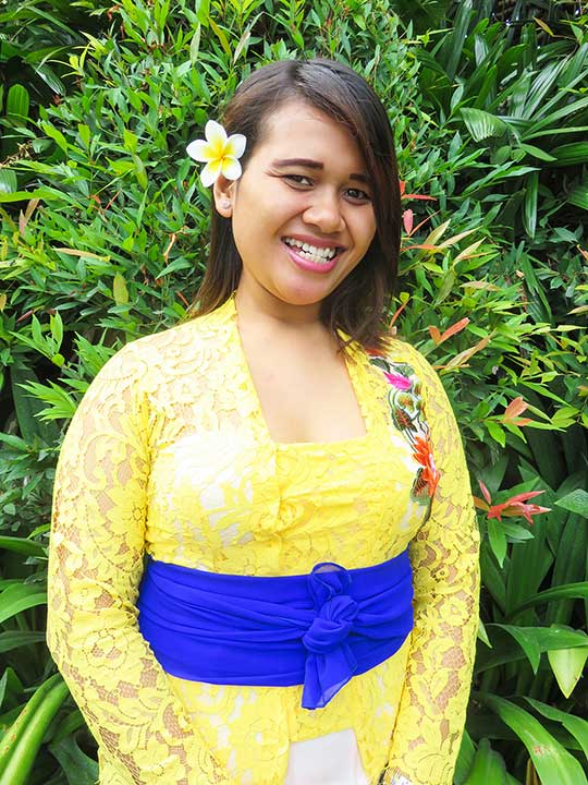 Our people: Erma is one of our lovely kitchen and housekeeping staff at our Canggu Womens Retreat