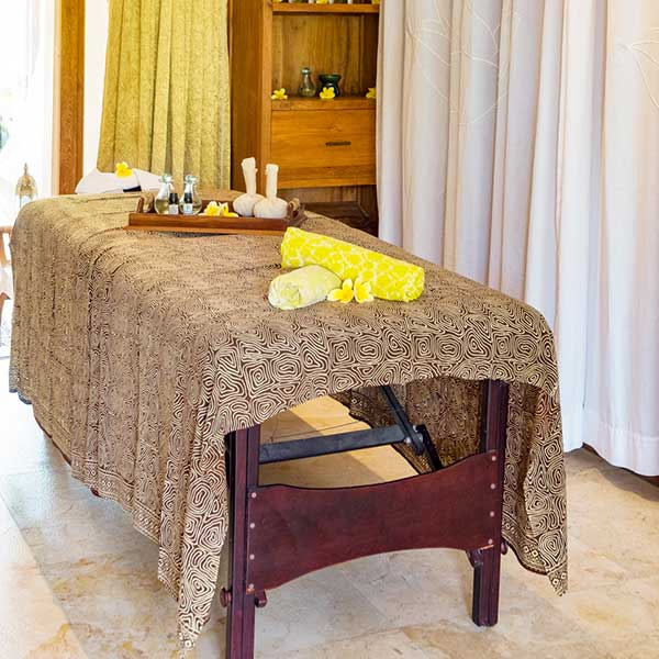 Private massage area in Bali retreat, Blissful Lotus Suite, Bliss Sanctuary For Women, Canggu