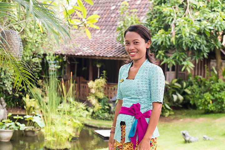 Ayu is one of our lovely Hostesses who will welcome you to your Bliss Bali retreat