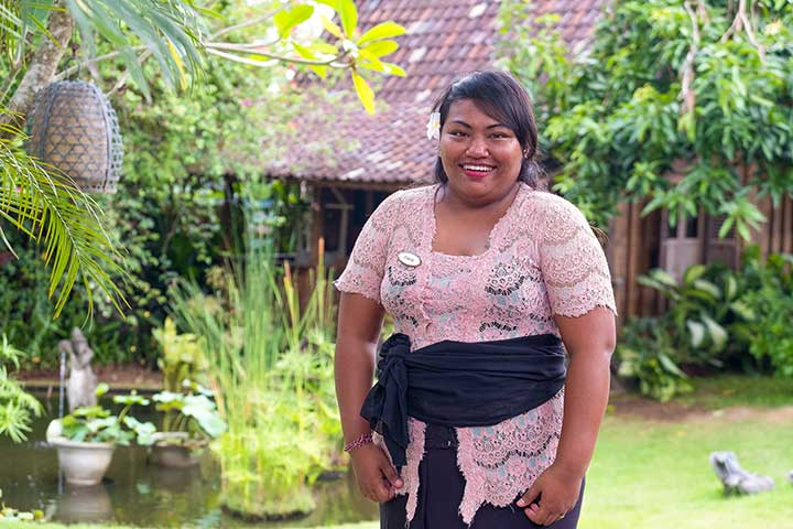 Our people: Dwik is one of our lovely Spa Therapists at our Canggu Sanctuary