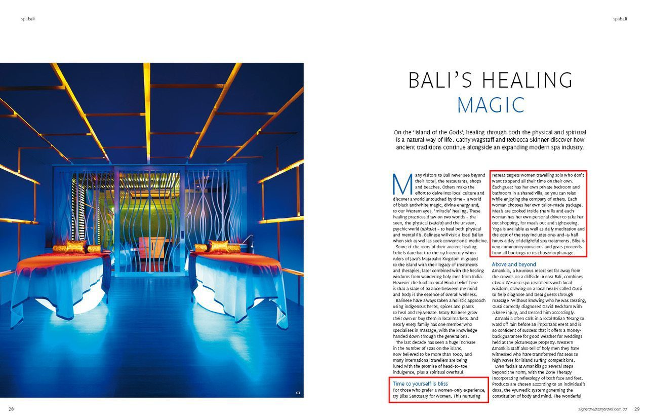 Signature Luxury Travel Magazine - Bali's Healing Magic