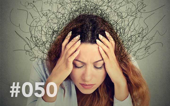 Blog 72 - Too many choices - stressed out girl with head in hands