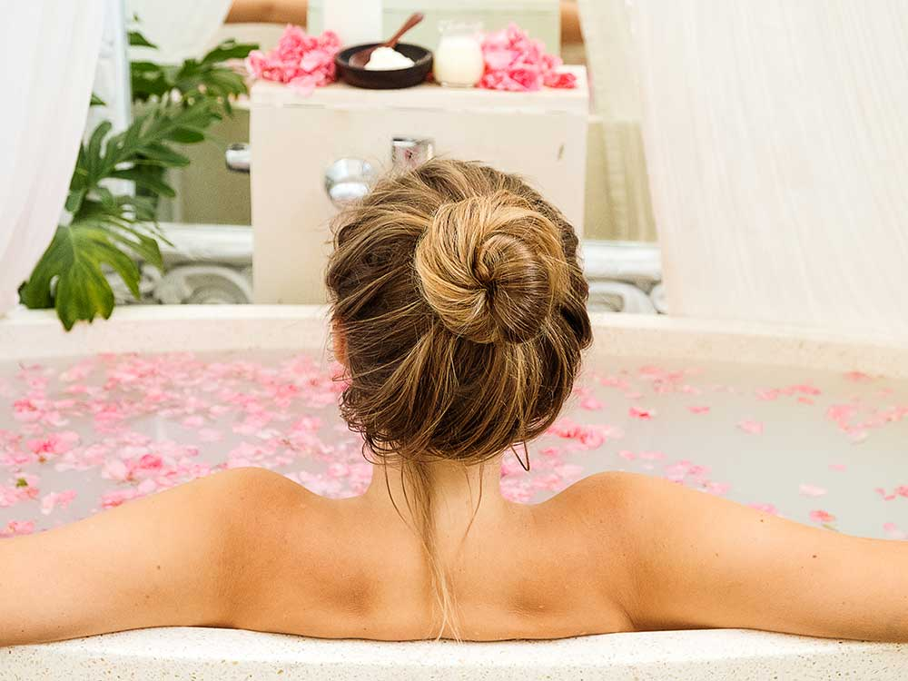 Wellness Bathing at our Blissful Bali Retreat