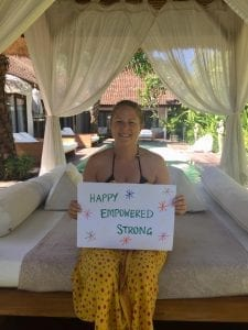 Feeling happy, empowered and strong after a stay at Bliss Sanctuary for Women Seminyak