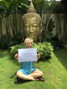 a Bliss guest feeling grateful after a stay at our sanctuary in Bali