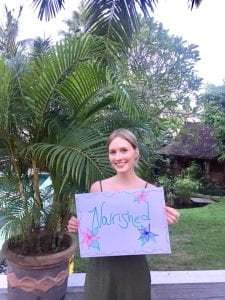 Bliss guest feeling 'Nourished' at our Canggu Sanctuary