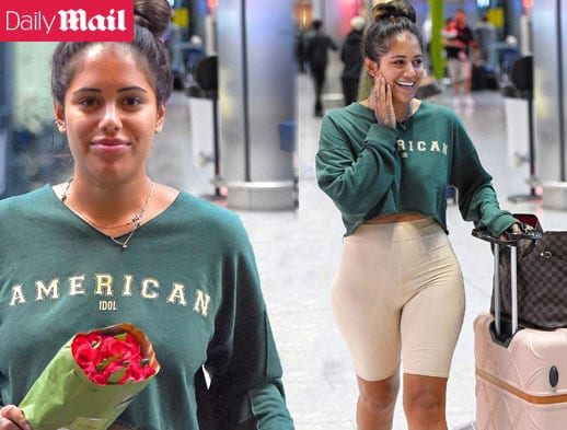 Love Island star Malin Andersson in Daily Mail online July 2019