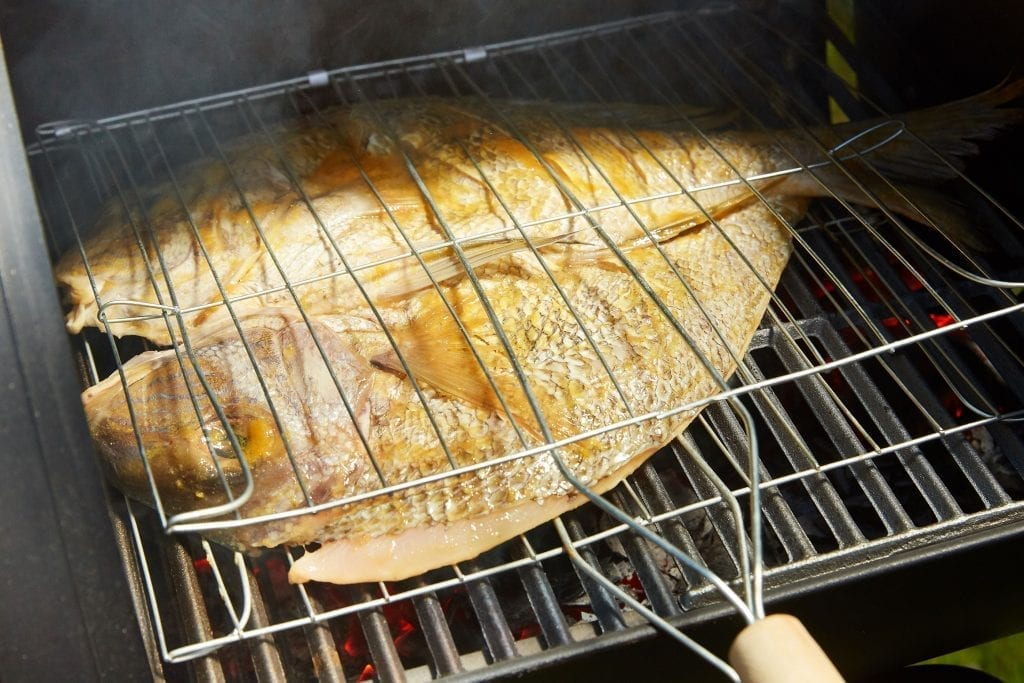 Grilled Snapper with Traditional Herbs and Spices