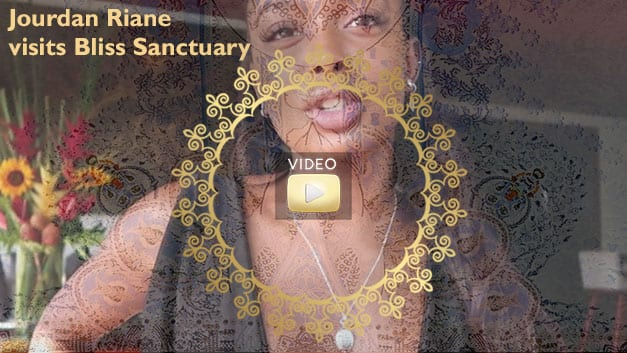 Jourdan Riane visits Bliss sanctuary