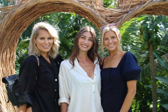 Tegan Martin,Keira Maguire and Leah Jay at Bliss Bali Sanctuary For Women