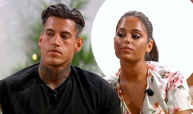 Malin Andersson and Terry Walsh on Love Island