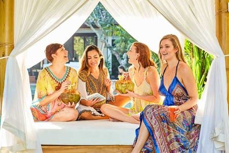 Happy guests at Bliss Sanctuary for Women Bali retreat