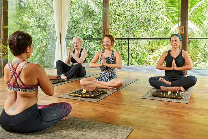 TOWIE Lydia Bright, yoga with mum and sister at Bliss Sanctuary for Women