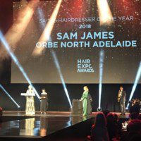 Sam James Orbe North Adelaide Hair Expo 2018 Hairdresser of the Year
