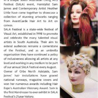 SALA Exhibition Where Brushes Meet the Arts - Sam James and Heather Little article